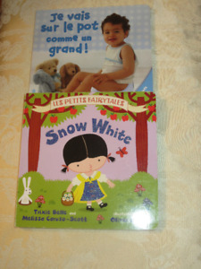 Two French Board Books - Snow White & Potty Training
