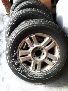 """F150 18"""" tires and rims with caps"""