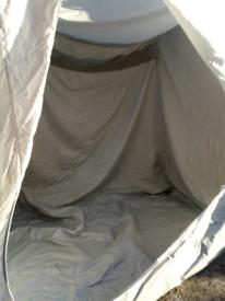 Inner awning camping pod