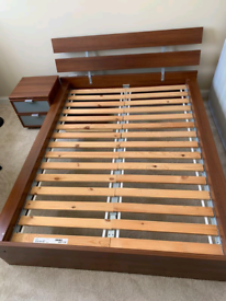 DOUBLE Bed Frame Ikea Hopen and mattress