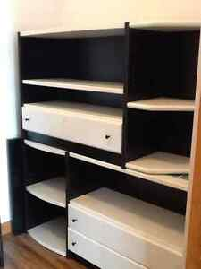 NEOSET custom made shelving/book/dressers 7 units