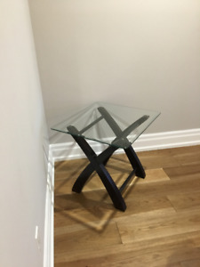 MODERN WOOD AND GLASS TABLES