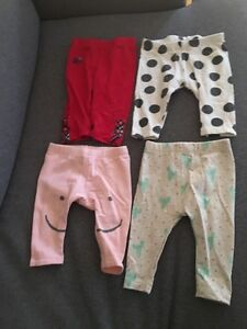 3-6mths--- 6 pairs of pants