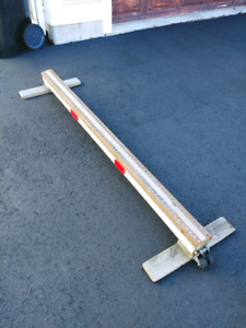 Scooter/skateboard grinding rail