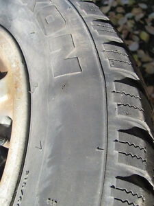 Set of 215/60R15 Tires, Studded, on Chev Rims; Very Good Tread Prince George British Columbia image 9