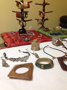 Jewelry, dresser, futon mattresses, speaker