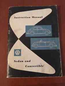 VW manual 1960