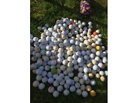Job lot of golf balls 400+