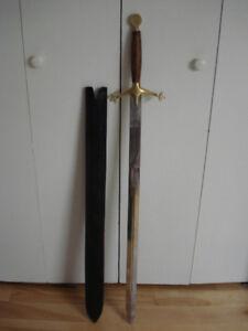 Épée médiévale d'apparat + fourreau en cuir