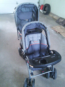 Baby trend sit n stand double stroller in mint condition