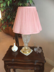 2 glass table lamps set or individual