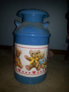 Large decorative milk jug