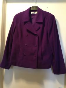 Ladies Purple Winter Coat.