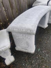 Concrete Rangers Garden Bench Seat