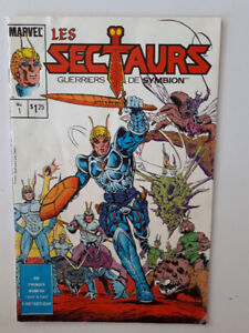 Les Sectaurs, Guerriers de Symbion,  Marvel, BD,  1985
