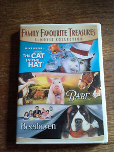 3 MOVIE COLLECTION DVD - THE CAT IN THE HAT/BABE/BEETHOVEN