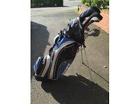macgregor reduced set of golf clubs irons putter some woods golf bag