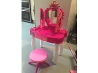 Pink girls dressing table with sound