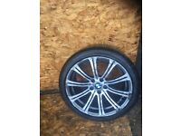 BMW 3 SERIES E9X M3 REAR ALLOY WHEEL AND TYRE
