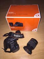 Sony DSLR camera alpha 350 with lots of accessories