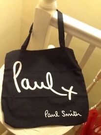 👜 Paul Smith women's black cotton tote bag new