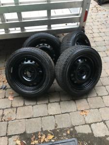 Pneus d'hiver sur roues