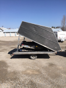 2 sleds and Trailer
