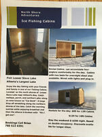 Ice Fishing Cabin Rentals on Lesser Slave Lake