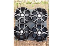 Genuine Honda Accord 6 Spoke Alloy Wheels in Black x4