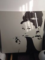 Marilyn and Audrey paintings