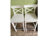 Pair Wooden IKEA Bar stools / chairs