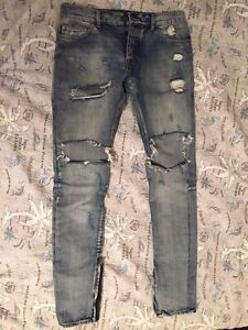 Fear of God 4th collection distressed jeans size 32