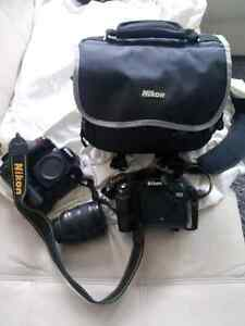 Nikon D 90 & D 70 body's with Nikkor 18-70Dx