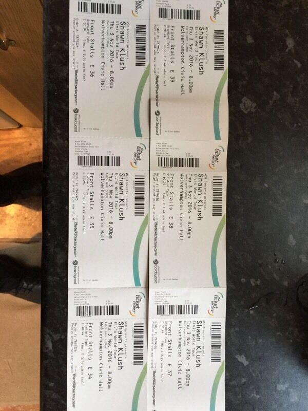 6 Tickets for Elvis Impersonator Shaun Klush