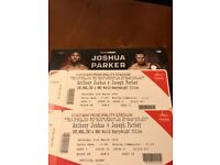 AJ Anthony Joshua vs Joseph Parker Boxing tickets