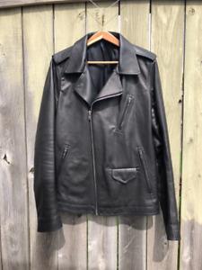 Rick Owens Stooges Calfskin Leather Jacket 52 – Black LCW