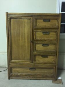Beautiful Solid Oak cedar lined dresser