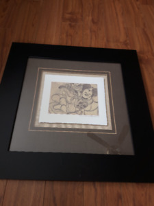 Mickey Mouse and Pluto Framed Print