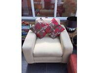 Cream comfy armchair - good condition