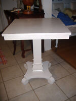 Lovely antique painted Empire pedestal parlor table