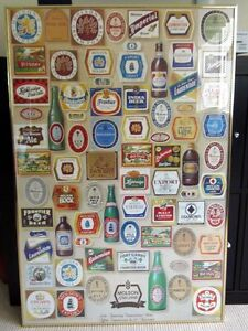 Framed MOLSON 200th Anniversary Poster, beer, Canadian, Man Cave