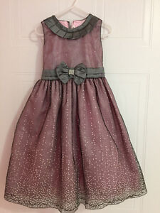Pink Grey Party dress size 4T