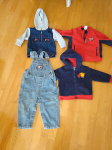 Boys fleece, hooodie and overalls