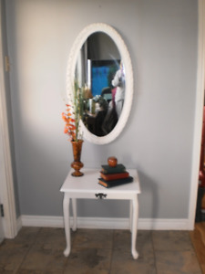 Side Table & Mirror