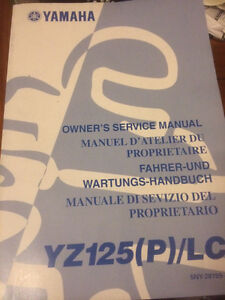 Yamaha YZ125(P)/LC Owners Service Manual