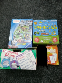 Board game, puzzle, flash card