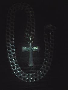 Chaine argent (croix)