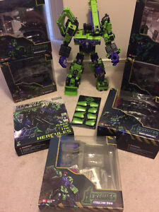 Transformers TFC Third Party Hercules / Devastator Complete Set