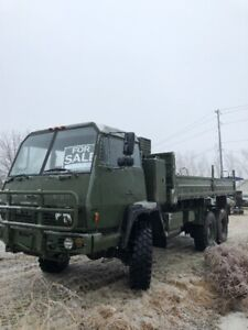 Military Truck flatbed with fold down sides