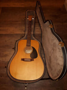 Norman B-20 acoustic guitar with hard case